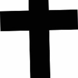 617 - Gummistämpel Minis konfirmation Enkelt Kors