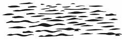1458-Gummistämpel  Vatten vågor stor
