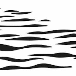 1459-Gummistämpel  Vatten vågor liten