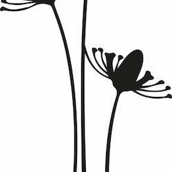 1425-Gummistämpel  3 Höga växter