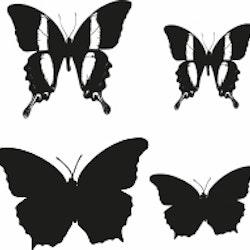 1555-Gummistämpel Minis Set fjärilar