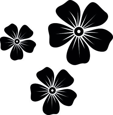 1557-Gummistämpel Minis Set Blommor