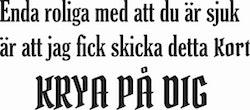 832-Gummistämpel Krya på dig