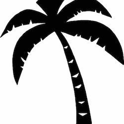 14131-Gummistämpel Palm