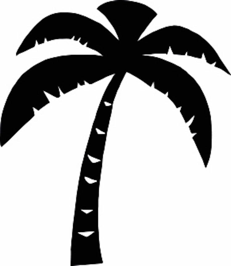 1572-Gummistämpel Minis Palm