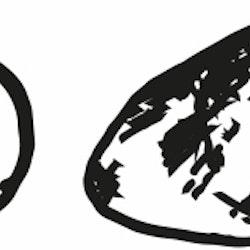 1452-Gummistämpel 2 st stenar