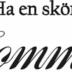 862-Gummistämpel Ha en skön Sommar