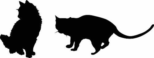546-Gummistämpel 2 st katter