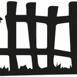 1408-Gummistämpel stort Staket