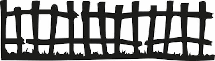 1573-Gummistämpel Minis Staket