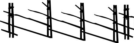 1574-Gummistämpel Minis Gärdsgård staket kan sammanfogas