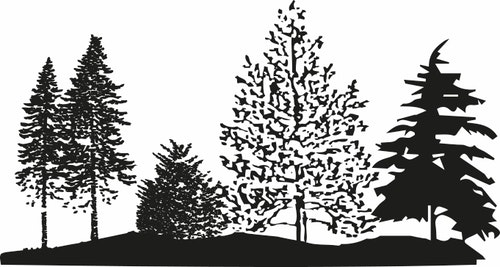 14137-Gummistämpel Träddunge