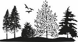 1577-Gummistämpel Minis Träddunge