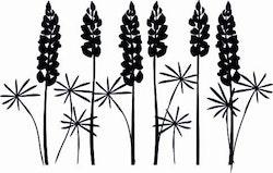 1580-Gummistämpel Minis  lupiner