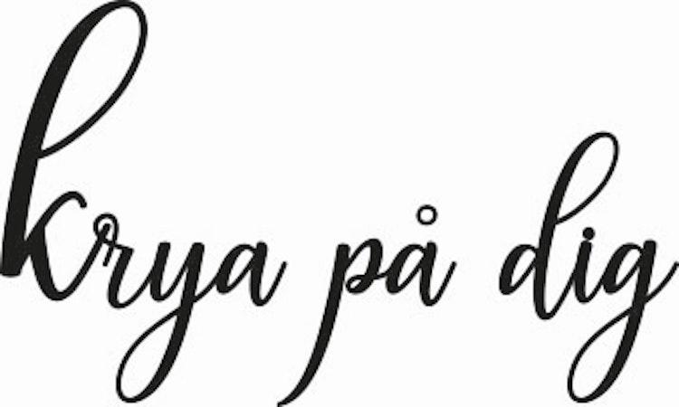 829-Gummistämpel Krya på dig