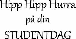 634-Gummistämpel Hipp Hipp Hurra på din STUDENTDAG