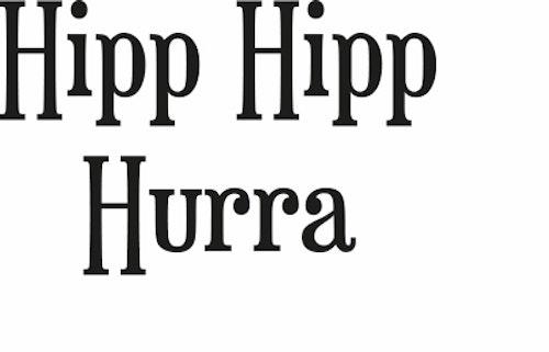 631-Gummistämpel Hipp Hipp Hurra