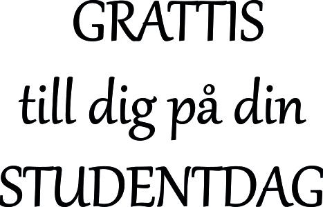 grattis på din studentdag 618 Gummistämpel GRATTIS till dig på din STUDENTDAG   LazerDesign grattis på din studentdag