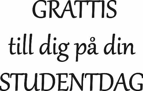 618-Gummistämpel GRATTIS till dig på din STUDENTDAG