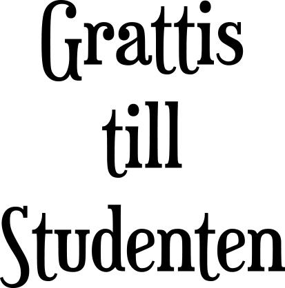626-Gummistämpel Grattis till Studenten