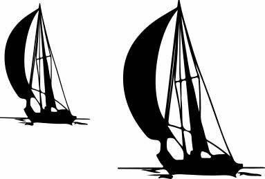 1526-Gummistämpel Minis segelbåtar