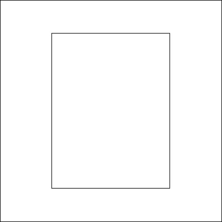 3229-Stencil Lazerdesign Rektangel schablon till kort mm