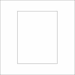 3229-Stencil Rektangel schablon 14x14 cm