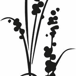 1462-Gummistämpel Växt