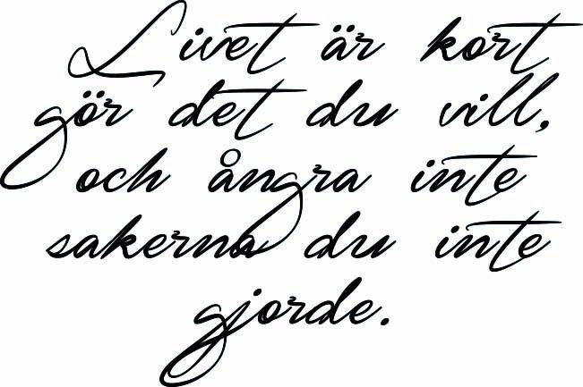 livet är kort citat