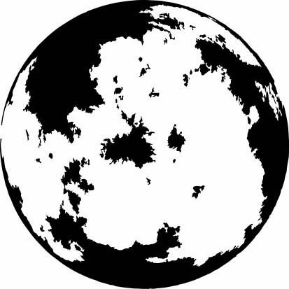 14150-Gummistämpel  Måne 3,5 cm