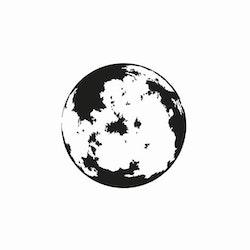 14151-Gummistämpel  Måne 2,5 cm
