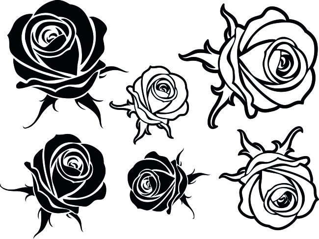 14133-Gummistämpel rosor 2 olika modeller