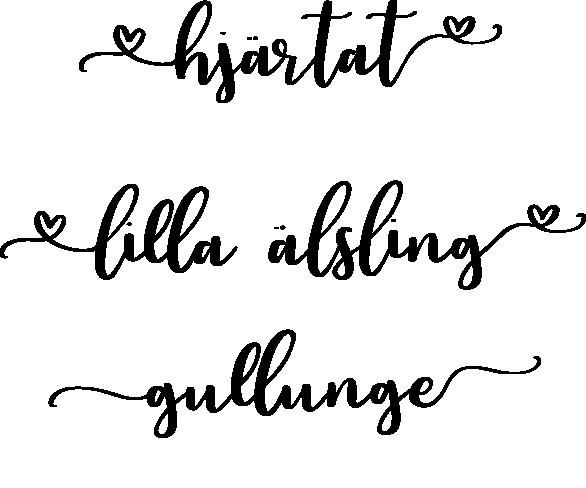 1819-Gummistämpel Set hjärtat - lilla älskling - gullunge