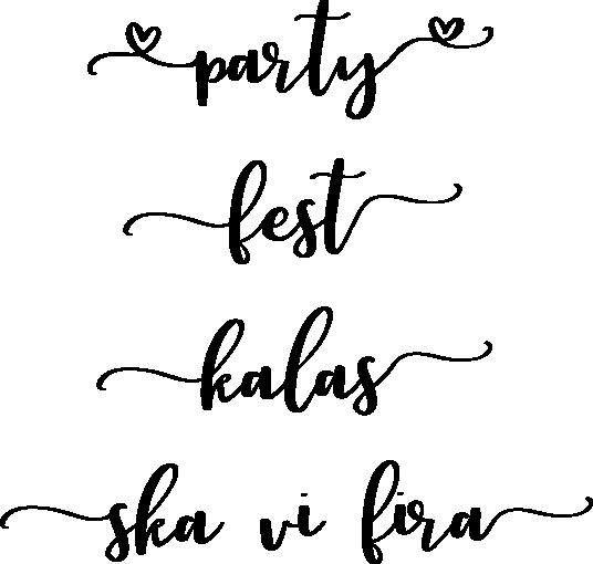 1820-Gummistämpel Set party- fest - kalas - ska vi fira