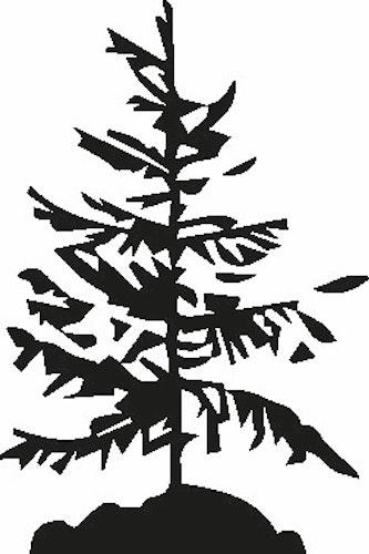 566- Gummistämpel Träd