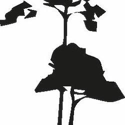 567- Gummistämpel Träd tall