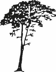 568- Gummistämpel Träd