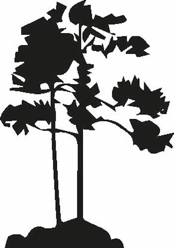 569- Gummistämpel Träd