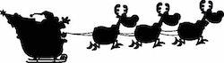 1271 - Gummistämplar Släde m 3 renar