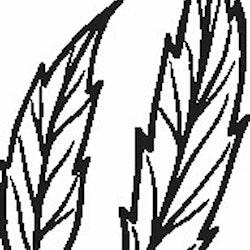 1116-Gummistämpel 2 st blad