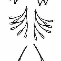 1117-Gummistämpel 6 st små grenar