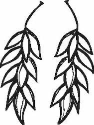 1119-Gummistämpel  2 st hänge