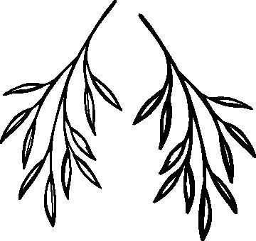 1128-Gummistämpel  2 st kvistar