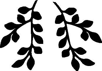 1134-Gummistämpel  2 små bladgrenar