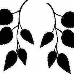 1133-Gummistämpel  2 små kvistar