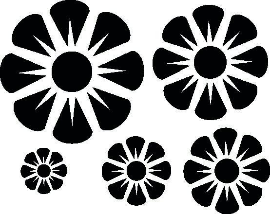 1136-Gummistämpel  Set Blommor