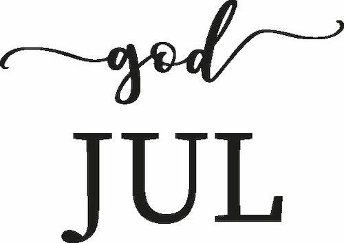 2478 - Gummistämpel God Jul