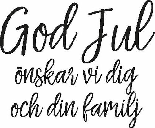2479 - Gummistämpel God Jul önskar vi dig...
