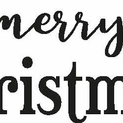 2014 - Gummistämpel Merry christmas