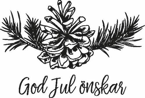 2480 - Gummistämpel God Jul önskar kotte